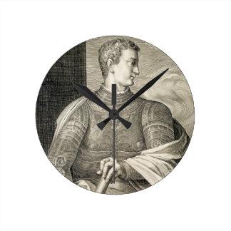 Emperador de Gaius César Caligula ANUNCIO 12-41 Reloj De Pared