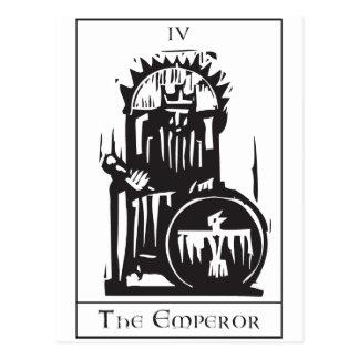 Emperador de la carta de tarot postal