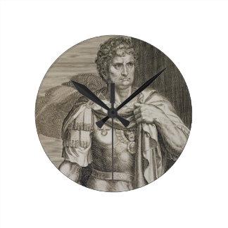 Emperador de Nero Claudius César del ANUNCIO de Ro Relojes De Pared