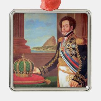 Emperador de Pedro I del Brasil, 1825 Adorno Navideño Cuadrado De Metal