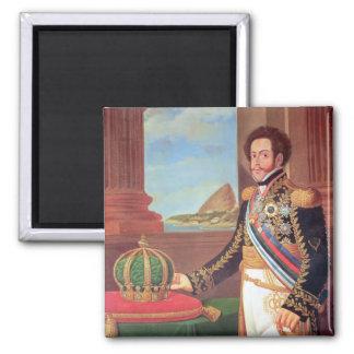 Emperador de Pedro I del Brasil, 1825 Imán Cuadrado