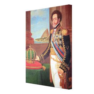 Emperador de Pedro I del Brasil, 1825 Impresión En Lona