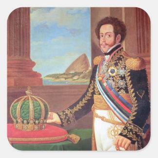 Emperador de Pedro I del Brasil, 1825 Calcomanías Cuadradas