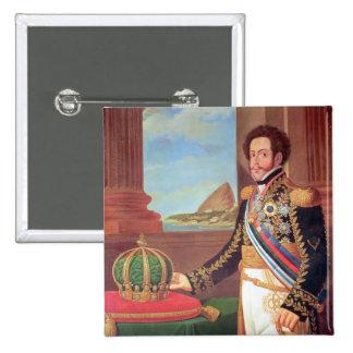 Emperador de Pedro I del Brasil, 1825 Pin Cuadrado