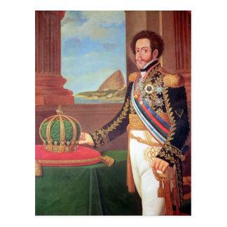 Emperador de Pedro I del Brasil, 1825 Postal