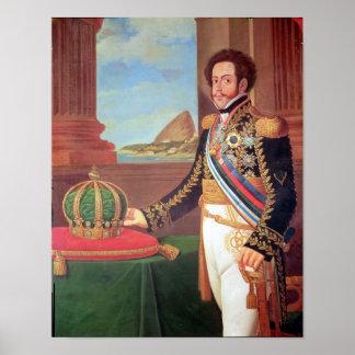 Emperador de Pedro I del Brasil, 1825 Póster