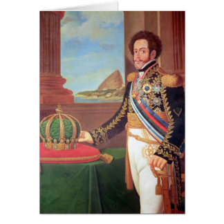 Emperador de Pedro I del Brasil, 1825 Tarjeta De Felicitación
