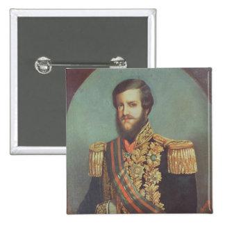 Emperador de Pedro II del Brasil Pin Cuadrado