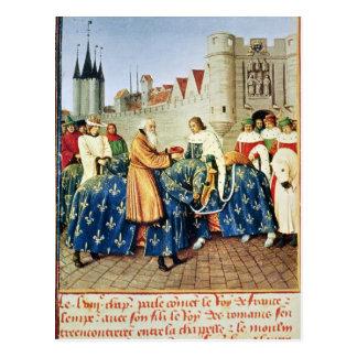 Emperador de recepción Charles de Charles V IV Postal