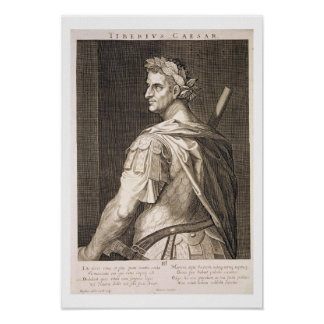 Emperador de Tiberius César (ANUNCIO 10 A.C. - 54) Póster