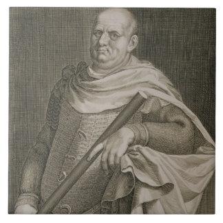 Emperador de Vespasian (ANUNCIO 9-79) del engra de Azulejo Cuadrado Grande