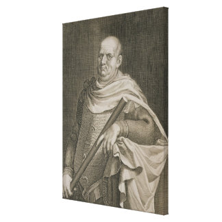Emperador de Vespasian (ANUNCIO 9-79) del engra de Impresion De Lienzo