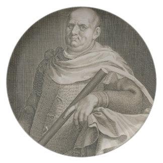 Emperador de Vespasian (ANUNCIO 9-79) del engra de Platos Para Fiestas