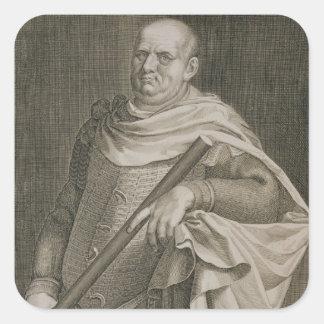 Emperador de Vespasian (ANUNCIO 9-79) del engra Pegatina Cuadrada