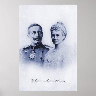 Emperador del vintage y emperatriz de Alemania Posters