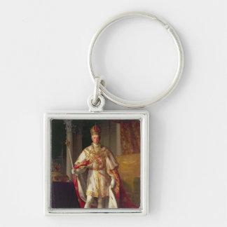 Emperador Francisco II de Austria Llavero Cuadrado Plateado