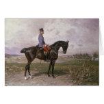 Emperador Francisco José I en su caballo austríaco Tarjeta De Felicitación