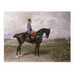 Emperador Francisco José I en su caballo austríaco Tarjeta Postal