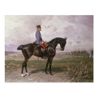 Emperador Francisco José I en su caballo austríaco Postal