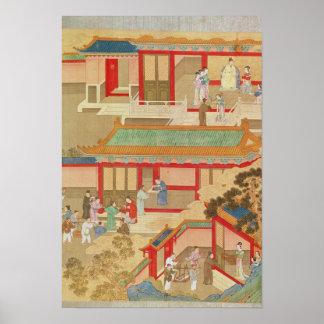 Emperador Hsuan Tsung en casa Póster