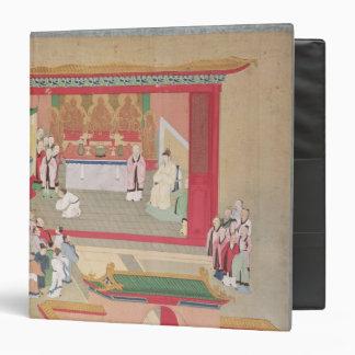 """Emperador Hui Tsung que practica con el budista Carpeta 1 1/2"""""""