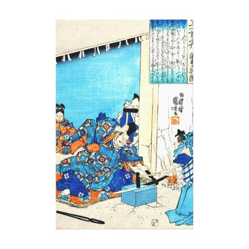Emperador jubilado Gotoba 1844 Impresion De Lienzo