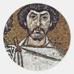 Emperador justiniano y su corte, y obispo Maxim Pegatinas Redondas