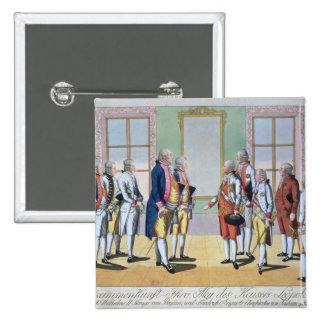 Emperador Leopold II Pin Cuadrada 5 Cm
