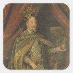 Emperador Matías de Austria Pegatinas Cuadradases Personalizadas