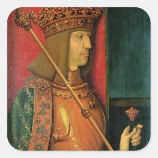 Emperador Maximiliano I Pegatina Cuadrada