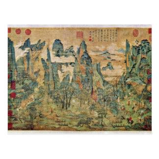 Emperador Ming Huang en una visita a Shu de Li Cha Tarjetas Postales