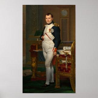 Emperador Napoleon en su estudio en el Tuileries Póster