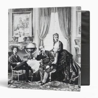 "Emperador Napoleon III Carpeta 1 1/2"""