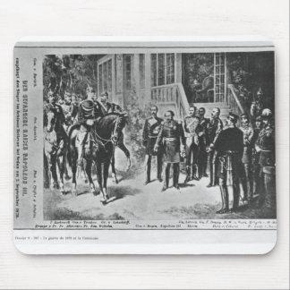 Emperador Napoleon III y Kaiser Wilhelm I Alfombrillas De Raton