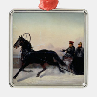 Emperador Nicolás I que conduce en un trineo Adorno De Reyes