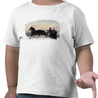 Emperador Nicolás I que conduce en un trineo Camisetas