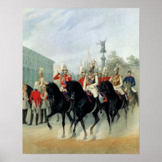 Emperador Nicolás I y duque magnífico Alexander Posters