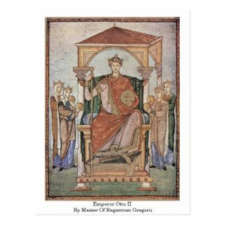 Emperador Otto Ii por el amo de Registrum Gregorii Postales