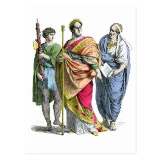 Emperador romano antiguo postal