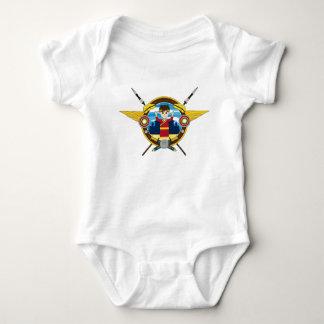 Emperador romano del dibujo animado lindo body para bebé