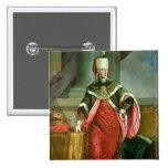 Emperador romano santo de Francisco I del emperado Pin Cuadrada 5 Cm