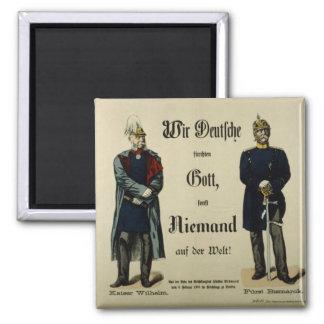 Emperador Wilhelm I y príncipe Bismarck Imán Cuadrado