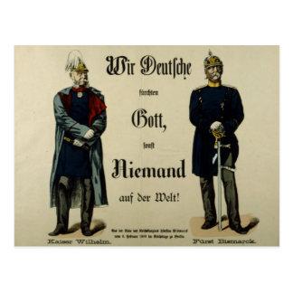Emperador Wilhelm I y príncipe Bismarck Postales