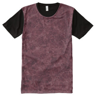 Emperador Wine Stone Pattern Background All-Over-Print T-Shirt