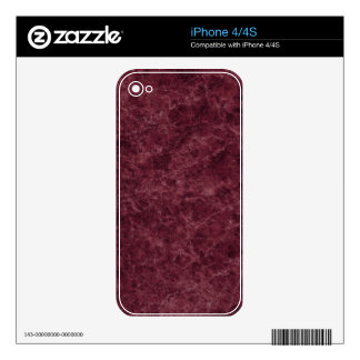 Emperador Wine Stone Pattern Background Decal For The iPhone 4