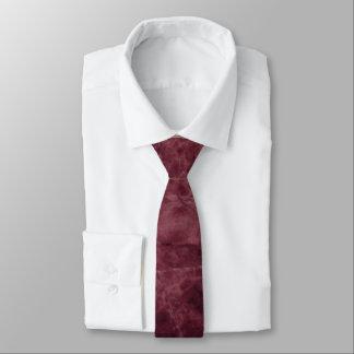 Emperador Wine Stone Pattern Background Necktie