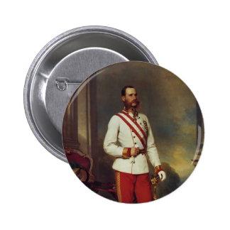 Emperador y Maria Winterhalter-Austríacos Teresa d Pin Redondo De 2 Pulgadas