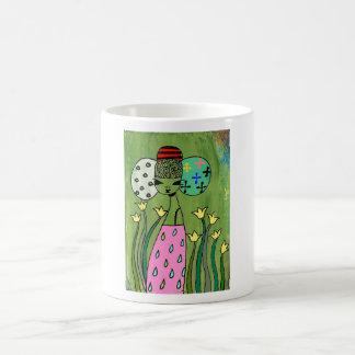 Emperatriz amarilla del tulipán taza de café
