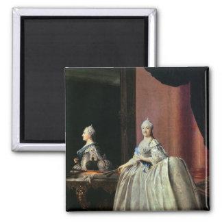 Emperatriz Catherine II antes del espejo, 1779 Imán Cuadrado