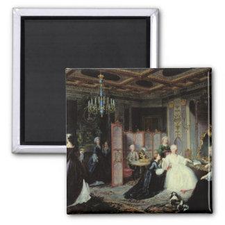 Emperatriz Catherine The Great que recibe a Imán Cuadrado